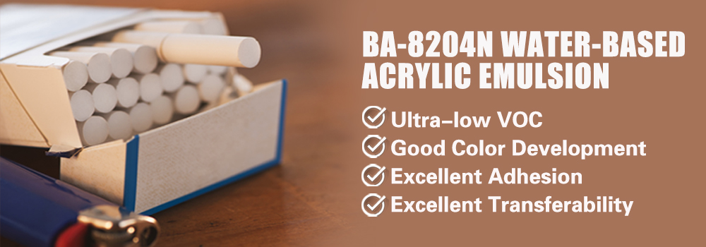 Water-based Untra Low VOC Styrene-acrylic Emulsion For Cigarette Packaging Printing Ink(BA-8204N)